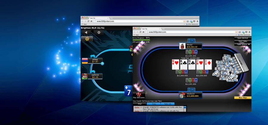 Features of the game 888 poker in the browser