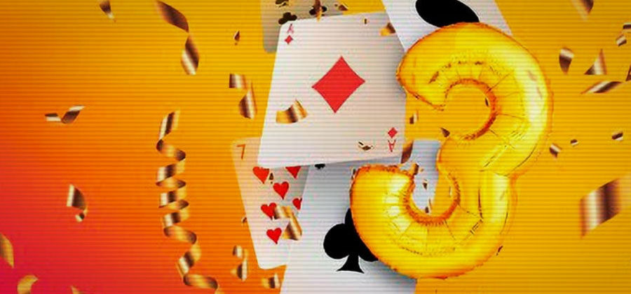 PokerMatch celebrates its third anniversary: 3 million hryvnias in tournaments, new freerolls and other prize draws