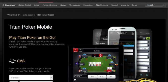 Available for game software TitanPoker